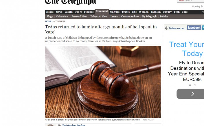 Ilja twins on The Telegraph